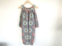 Country Road Dress Size 10 Relaxed Cold Shoulder Aztec Bright Print Geometric