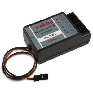 Robbe 8369 Multi-Switch 16 Decoder Memory für Futaba-Sender der F-Serie F14 F16