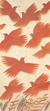 "Alekos Fassianos ""RED BIRDS""  Small Open Edition Offset-Litho Print Greek Artist"