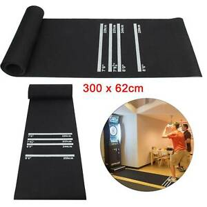 Darts Dart Mat Board Black Professional Soft Rubber 4Throwing Distances Pub Club