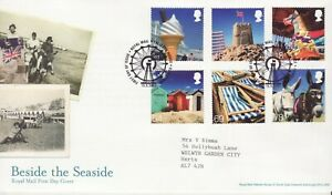 GB Stamps First Day Cover Beside the Seaside, beach, castle SHSBig Wheel 2007