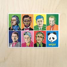 Enjoi skateboard vinyl sticker decal bumper presidents Bush Clinton Kennedy