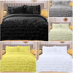Luxury 100% Cotton Flamenco Rapport Bedding Sets Duvet Covers Frilly Duvet Cover