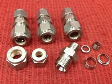 "Swagelok - Compression Fittings - 316 SS, Inline - 3/8"" x 1/4"" - Lot of 4"