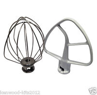 Replacement Kitchenaid Stand Mixer Wire Whisk & Flat Beater. K45WW & K45B. Boxed