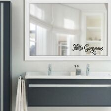Sticker Mirror Toliet Room Shower Wall Stickers Home Hello Gorgeous Decal