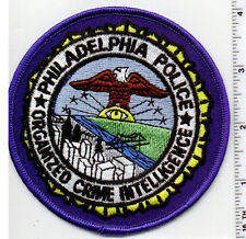 Philadelphia Police (Pennsylvania) Organized Crime Intel Shoulder Patch 1980's