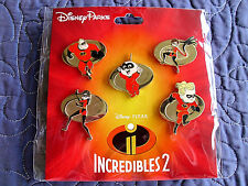 Disney * Incredibles * New in Package 5 Pin Booster Set