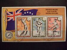 1 Block Cook Islands,South Pacific Mini Games 1985,gestempelt