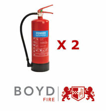 2 X  6KG ABC Powder Fire Extinguishers -Thomas Glover -Home/Office/Kitchen/Car