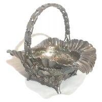 Simpson Hall Miller Silver Quadruple Plate Victorian Era Basket Circa 1880's