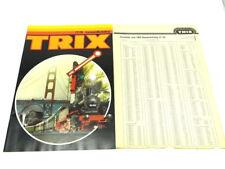 Trix Gesamt- Katalog von 1977 / 1978 mit Preisliste
