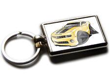 CHEVROLET CAMARO Sports Car Koolart Chrome Keyring Picture Both Sides
