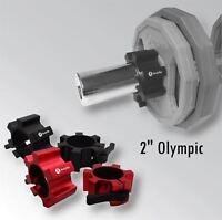 "BodyRip Olympic 2"" Star Collars Barbell Dumbell Clips Aluminum Locks Pair"