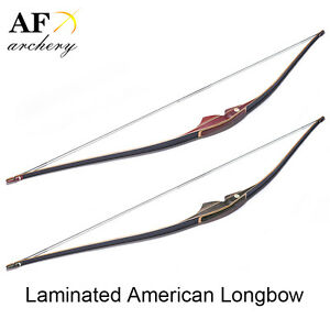 AF American longbow 20-55lbs Handmade Laminated Traditional  Hunting Recurve bow