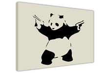 PANDA WITH GUNS BANKSY CANVAS WALL ART PICTURES POSTER PRINT HOME DECORATION