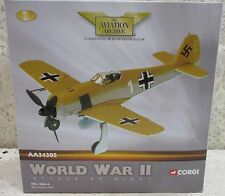 "Corgi Focke-Wulf-190A-4 SG 2 ""White 1"" Tunisia World War II Bomber Die-Cast 1:72"