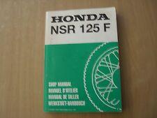 Taller de mano libro honda nsr 125 f 1988 Shop manual taller manuel d 'Atellier
