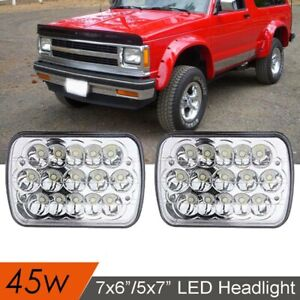 Fit for 82-93 Chevy S10 Blazer GMC S15 7X6 Projector LED Headlights 2PCS