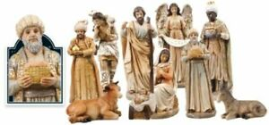 Christmas Traditional Nativity Set Christmas Ornament 10 Figures Made in Italy