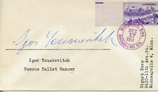 IGOR YOUSKEVITCH BALLET DANCER SIGNED ENVELOPE 1951