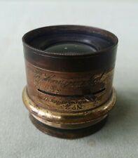 Vintage J. H. Dallmeyer Stigmatic Series ll No2 Brass Lens No 57974 f6-45