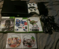 Microsoft Xbox 360 S 250 GB Black Console W 6 Games tested fully functional