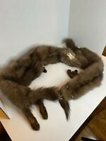 Vintage Mink Stole With Head, Feet & Tail By Normart's Furs Fresno CA