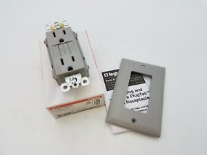 1Pc Legrand Radiant PT1597TRGRY 15A Duplex Outlet GFCI Gray Tamper Resistant NOS
