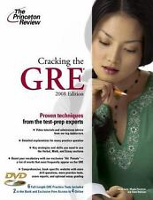 Cracking the GRE with DVD, 2008 Edition (Graduate School Test Preparation) Prin