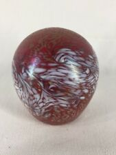 Art Glass Paperweight With Mottled Design (ref G030)