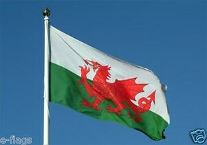 Giant Wales Cymru Welsh Dragon Rugby Flag FAST DELIVERY