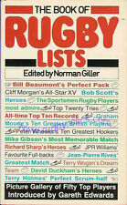 """THE BOOK OF RUGBY LISTS"" BOOK NORMAN GILLER"