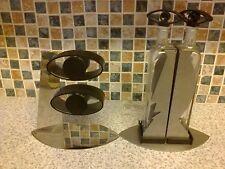 Designer GALLEGGIANTI Salt & Pepper Pots & OLIO & ACETO BOTTIGLIE Stand con faccia su