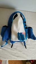AIRPLANE VELOUR CHILD POPATU CARRY ON TRAVEL BACKPACK,AIRLINER,USA FLAG,BLUE,