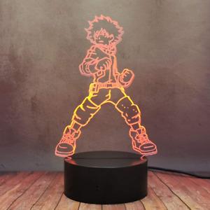 3D LED Night Light Illusion Deku Midoriya Izuku Lamp My Hero Academia Anime Lamp