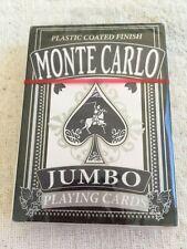 Monte Carlo Jumbo Playing Cards Plastic Coated Finish NEW