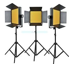 Godox 3000 3x 1000 LED Studio Video Continuous Light Kit for Camera Camcorder DV