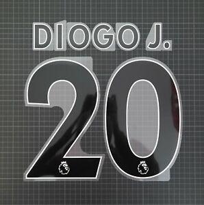 DIOGO JOTA #20 2017-2022 Player Size Premier League Black Nameset Plastic