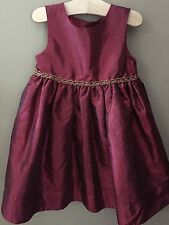 Girl's 24 Months Boutique Good Lad Red Shimmery Holiday Dress New Gold Trim