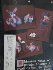 Miniature Collector Magazine #48 March/April 1985-Bunny In A Basket Needlepoint/