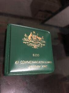 1982  $200 Dollar Commonwealth Games Australian Gold Coin in PRISTINE COND.