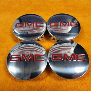 GMC CENTER CAPS 22837060 2014-2021 SIERRA YUKON DENALI SLT SLE FACTORY ORIGINAL