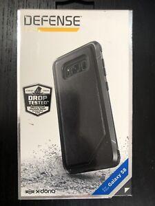 X-Doria Defense Lux Case for Samsung Galaxy S8 - Black Leather NEW in Box