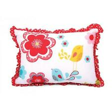 New CUBBY HOUSE KIDS Girls FLORAL SPOT Birds Flowers APPLIQUED Filled CUSHION