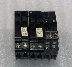 GE CIRCUIT BREAKER TWO 20 AMP ONE 15 AMP TWIN BREAKER Q1515 Q2020