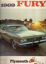 Plymouth FURY 1969 marché canadien brochure vip sport iii ii i