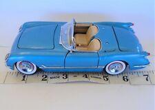1:25 SCALE VINTAGE 1955 CHEVY CORVETTE ROADSTER MODEL CAR FRANKLIN MINT BLUE