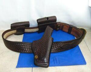 Vintage Milt Sparks Leather Custom Holster, Belt, and Mag Holder for 1911