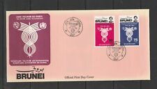 Brunei FDC 1981 telecommunications, Unaddressed, SG 296/7